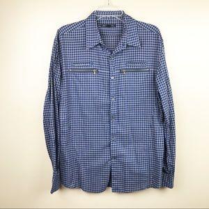 John Varvatos Men's Shirt flannel button down
